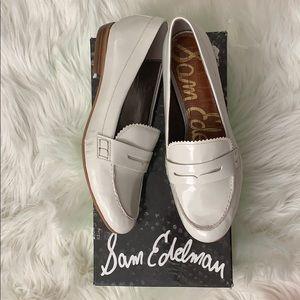 Sam Edelman arctic white loafers